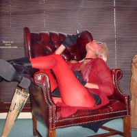 Emerson Style In Her Red Pantyhose