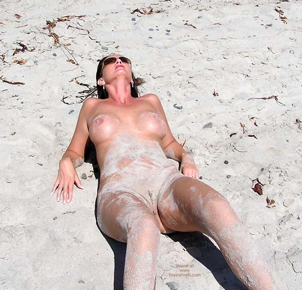 Pic #1 - On The Beach - Nude Beach , On The Beach, Covered In Sand, Sandy Vagina