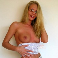 Long Blonde Hair - Long Hair, Small Boobs, Topless