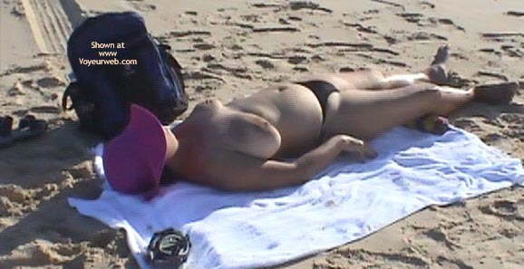 Pic #2 - My Wife First Topless and Nude Beach Photo