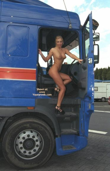 Pic #7 - *PL Britta Nip Flirting with a Lorry Driver