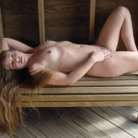 Long Blonde Hair - Erect Nipples, Long Hair, Naked Outdoors, Nipples, Nude Outdoors