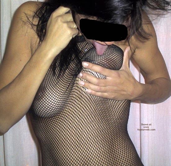 Pic #5 - Mia Moglie Elisa In Net Bodystockings