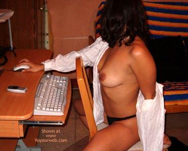 Pic #3 - Hot At The Computer