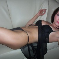 Black Lingerie On The Couch - On The Couch