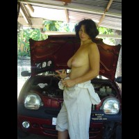Topless Car Mechanic