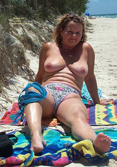 Pic #6 - Wife on The Beach