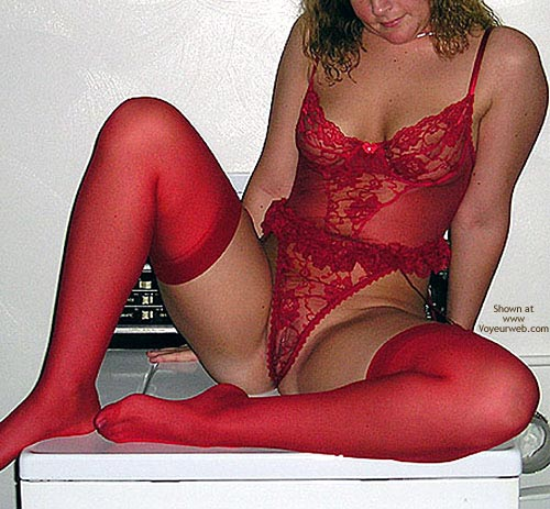 Pic #7 - Shelly in Red Lingerie