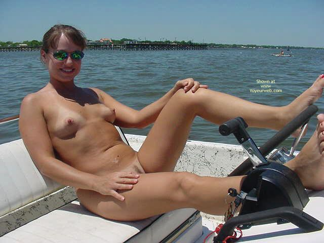 Topless housewives on boat