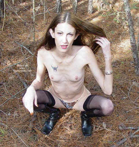 Pic #6 - Hippy Chick In The Winter Woods