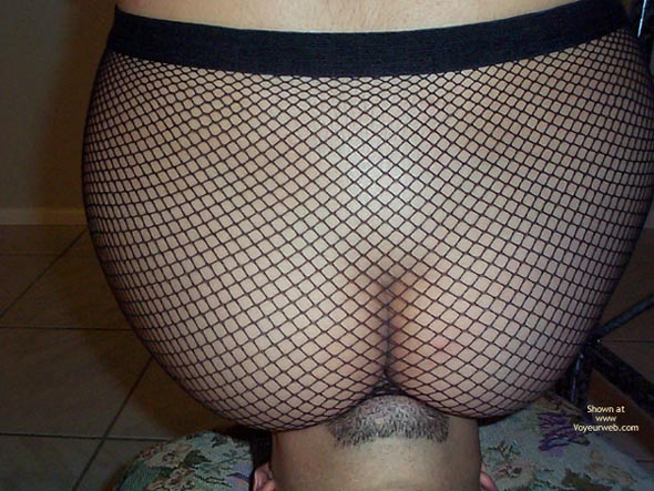 Pic #4 - Gorgeous Ass in Fishnets