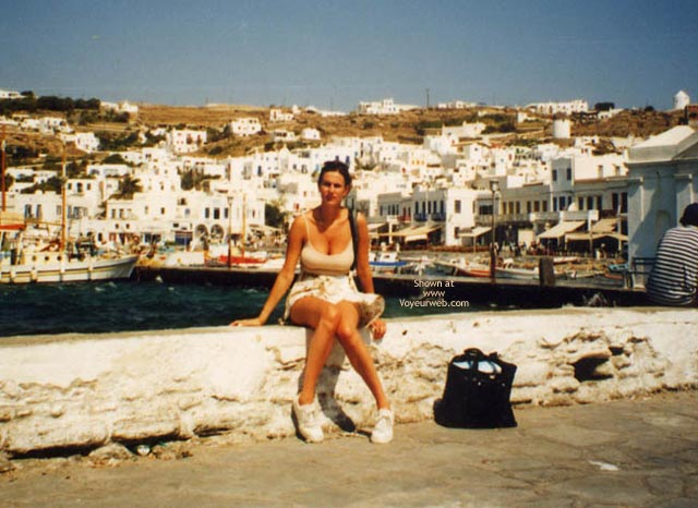 Pic #3 - Repost Of My Beautiful Wife In Greece