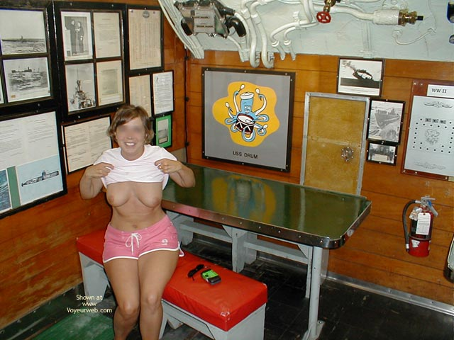 Pic #1 - Wife on USS Alabama