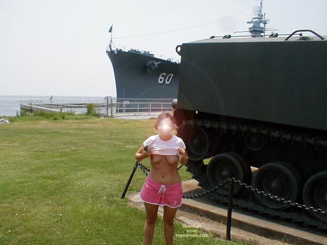 Pic #5 - Wife on USS Alabama
