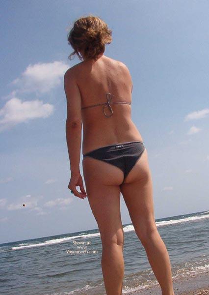 Pic #4 - My Shy Wife On Beach