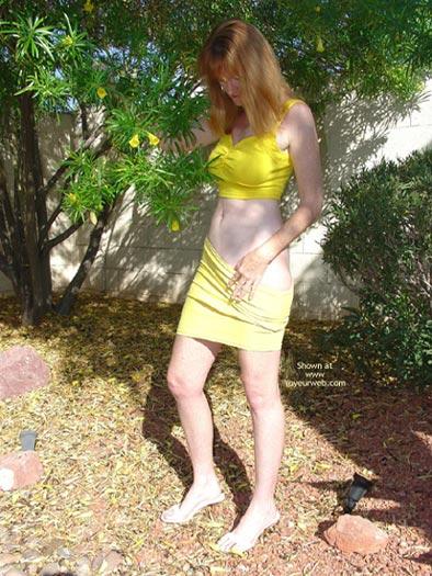 Pic #1 - Redhead in Yellow