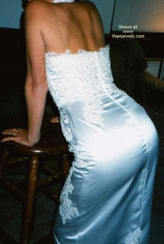 Pic #1 - My Sexy Young Wife in Her Wedding Dress