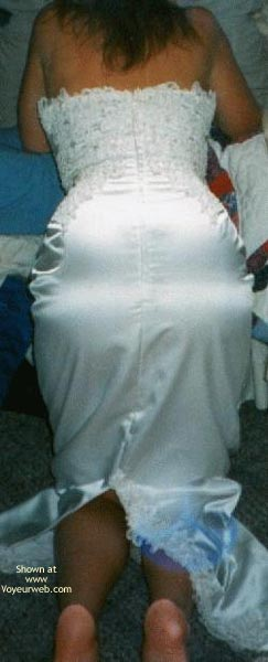 Pic #3 - My Sexy Young Wife in Her Wedding Dress