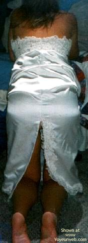 Pic #4 - My Sexy Young Wife in Her Wedding Dress