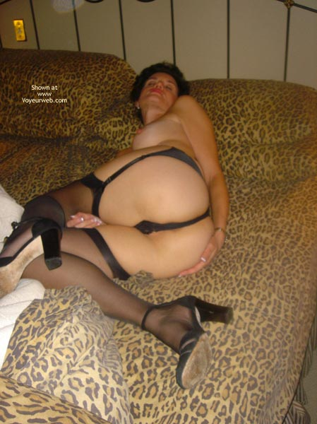 Pic #1 - *NL Bedtime Baby Doll in Black Silk Stockings and Panties