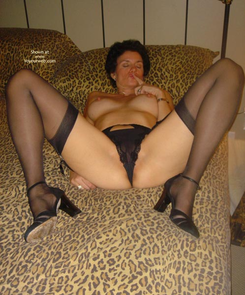 Pic #3 - *NL Bedtime Baby Doll in Black Silk Stockings and Panties