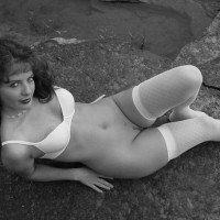 Trimmed - Black And White, Landing Strip, Nude Outdoors