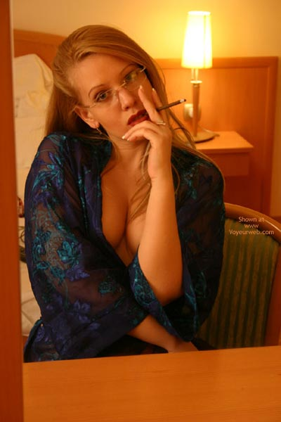 Pic #1 - Sonia With Glasses, Smoking