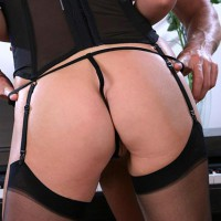 Black Lingerie - G String, Stockings, Sexy Ass, Sexy Lingerie