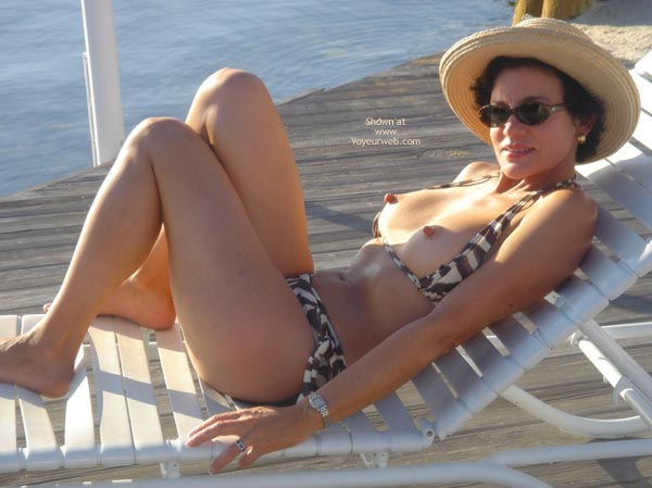 mature wife on vacation