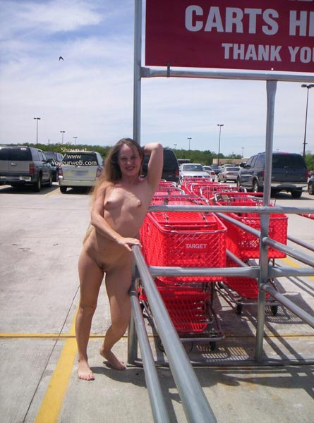 Pic #1 - Nude Parking Lot Surprise - Exposed In Public , Nude Parking Lot Surprise, Nude In Car Park, Public, Barefoot Teaser Wearing Nothing, Public Place