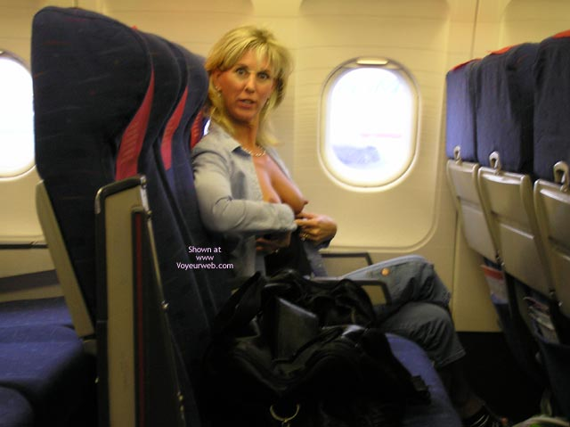 Pic #1 - Wife Flashing Tits In Airplane - Erect Nipples, Flashing Tits, Flashing, Hard Nipple, Hot Wife , Tits On Airplane