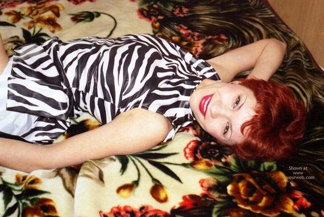 Pic #2 - Helen Undressed Zebra Dress And Bikini