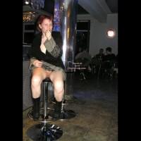 Pantyless Girl In Public - Boots