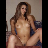 Landing Strip - Landing Strip, Long Hair, Small Tits, Spread Legs, Looking At The Camera