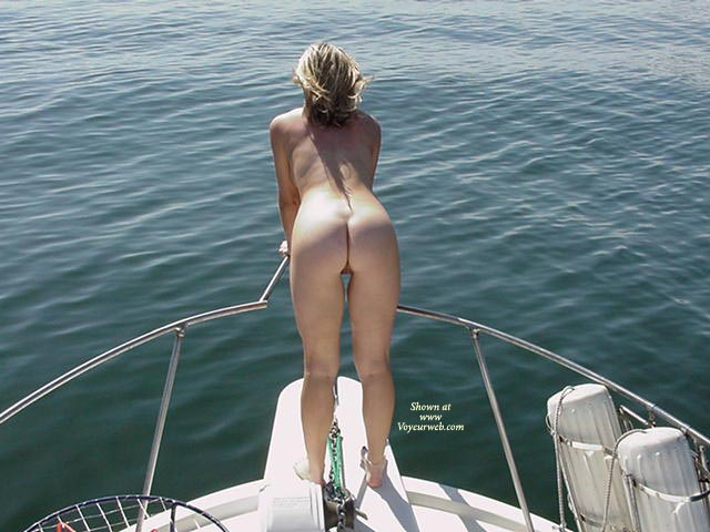 Pic #1 - Naked On Boat - Nude On Boat, Rear View , Naked On Boat, Rear View, Nude On Boat, Anklet