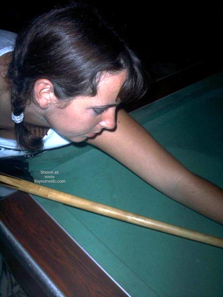 Pic #1 - Busty Girl Bending Over Pool Table