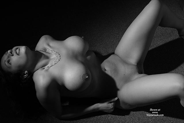 Pic #1 - Black And White Nude Busty Wife - Big Tits, Spread Legs, Bald Pussy, Nude Amateur, Nude Wife , Posing Tits, Black And White, Mountains Of Shadow, Large Tits, Lying On Floor, Shoulders In Chest Out
