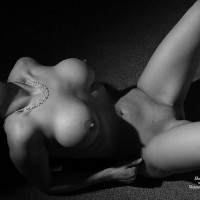 Black And White Nude Busty Wife - Big Tits, Spread Legs, Bald Pussy, Nude Amateur, Nude Wife