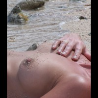 Nipple Shot - Hard Nipple, Topless Beach