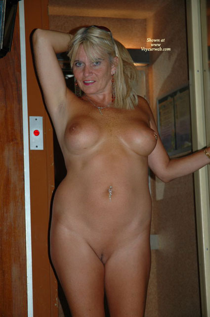 Pic #1 - Mature Shaved Pussy - Navel Piercing, Shaved Pussy , Mature Shaved Pussy, Mature Nice Boobs, Belly Ring, Sun Glasses On Head, Fondeling Hair