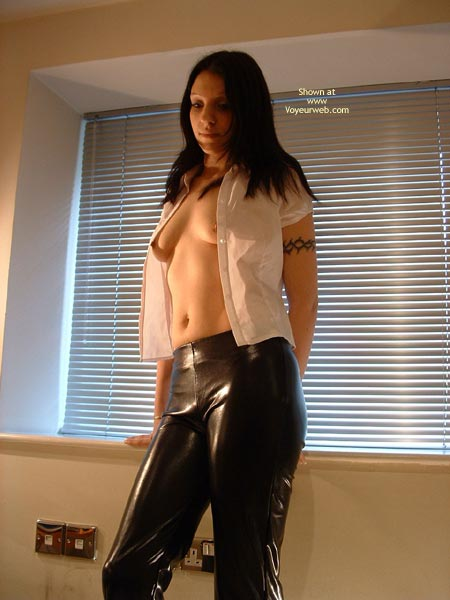Pic #3 - Sexy Young Brunette In Pvc Pants