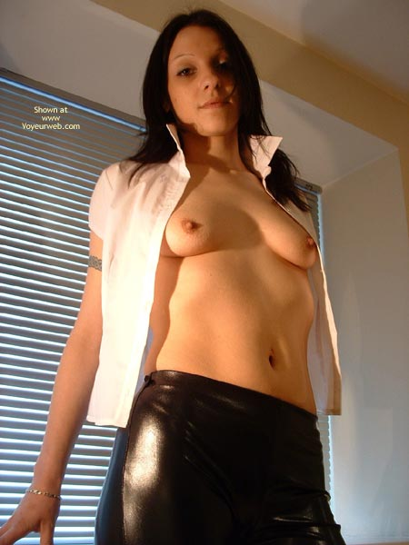 Pic #5 - Sexy Young Brunette In Pvc Pants