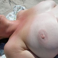 Wife First Time At Beach