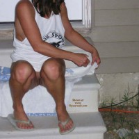 Missouri Farmwife Hangin Out In The Yard