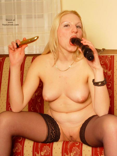Pic #4 - My Slave Sucking Her Sex Toys