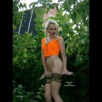 Young Naughty Girl All Alone In The Forest