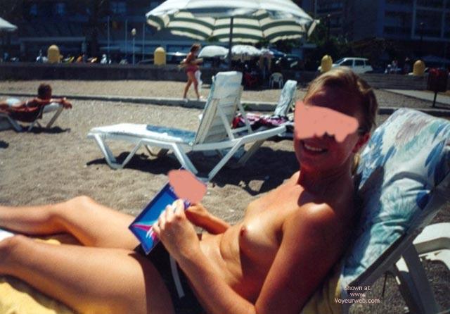 Pic #6 - Sarahs Small Tits On Beach