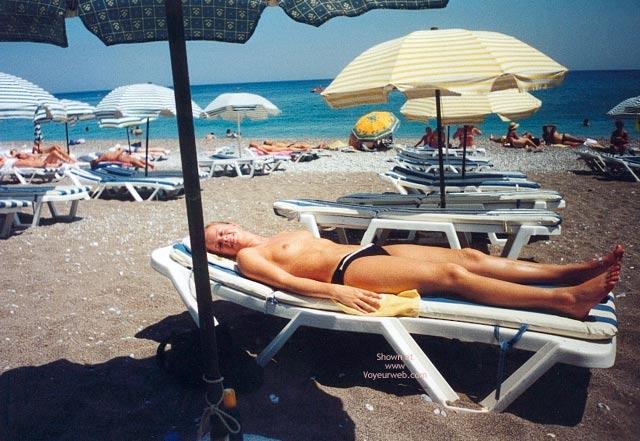 Pic #7 - Sarahs Small Tits On Beach