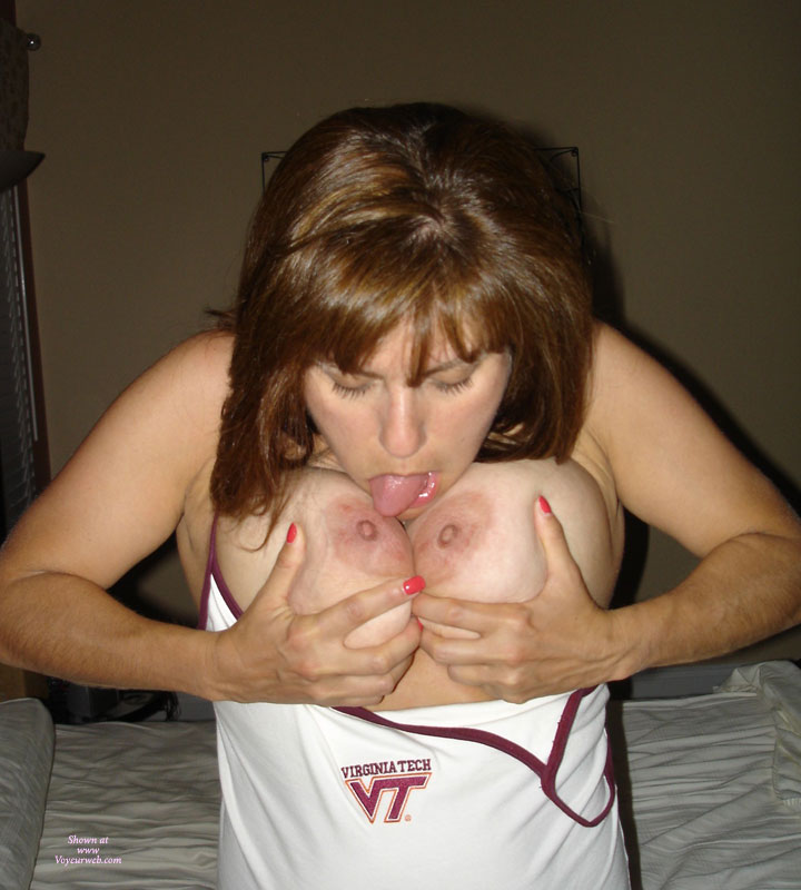 Pic #1 - Topless Girl Licking Her Own Nipples - Huge Tits, Topless , Licking Nipples, Sucking Own Tits, Huge Breasts, Monster Boob Tit Lick, Hairy Arms, Standing Licking Her Own Tits, Self Licking, Licking Tits, Female Self Stimulation, Holding Tits