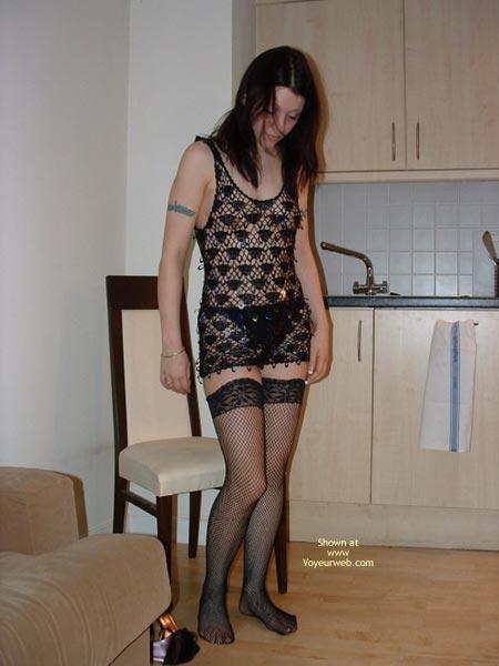 Pic #4 - Cute Girl In Fishnet Stockings